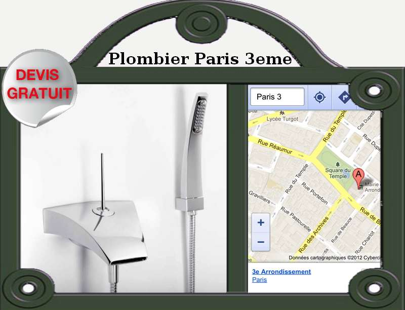 plombier paris 3 me plomberie paris. Black Bedroom Furniture Sets. Home Design Ideas