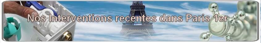 Fuite d'eau Paris 1, débouchage wc Paris 75001, dégorgement canalisation Paris 1 er, Réparation Fuite d'eau Paris 1, remplacement robinetterie 75001, Recherche Fuite d'eau Paris 1